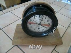 Working WWII Seth Thomas Clock U. S. MARITIME COMMISSI0N Bakelite Ship Clock
